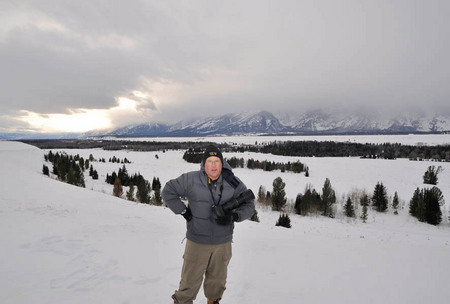 A cold day in the Grand Tetons