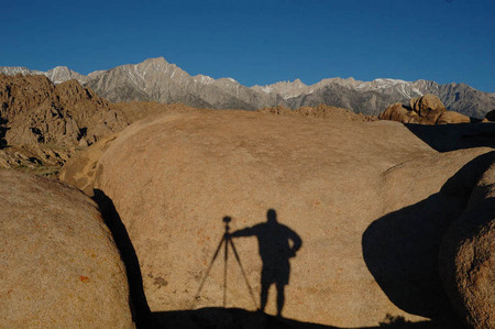 Getting that sunrise shot in the Alabama Hills, California