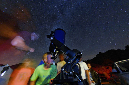 High School astronomy course at Pinnacles National Monument