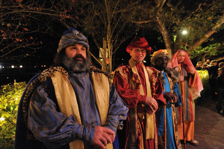 The three wise men, Christmas pageant