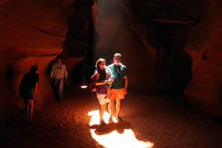 Tourists at Upper Antelope Canyon, Arizona