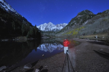 Midnight in the Maroon Bells, Colorado