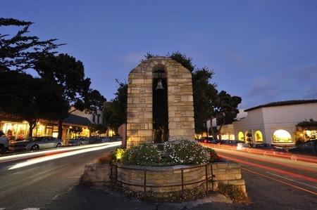 Downtown Carmel at night