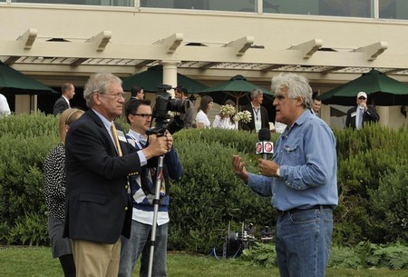 Jay Leno interview, Concourse d'Elegance car show