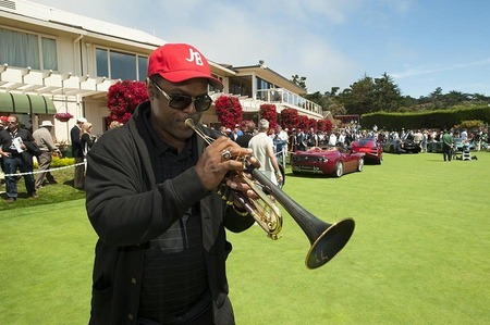 Jon Barnes, Jazz trumpeter, Concourse d'Elegance, Pebble Beach, California