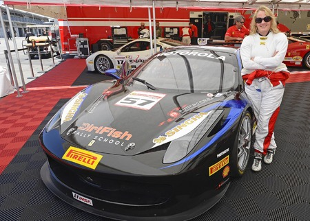 Race car driver Jackie Heinricher