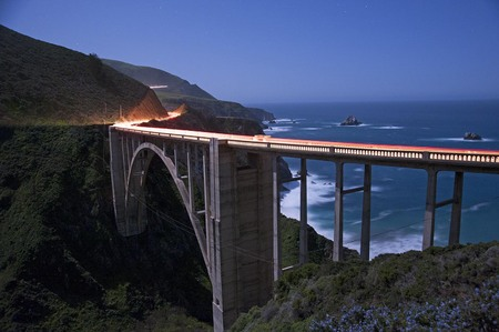 Bixby Bridge night
