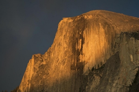 Alpenglow on Half Dome, Yosemite, California