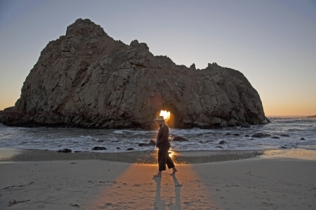 Sunset on Pfeiffer Beach