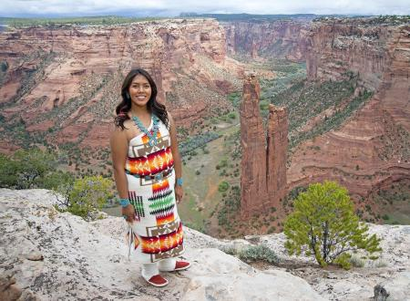 Navajo girl, Canyon de Chelly, Arizona